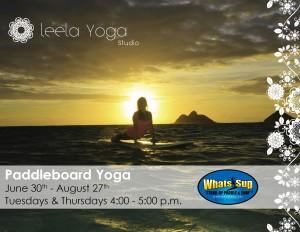 Paddleboard Yoga Class1